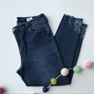 Style & co Floral Embroidered Jeans
